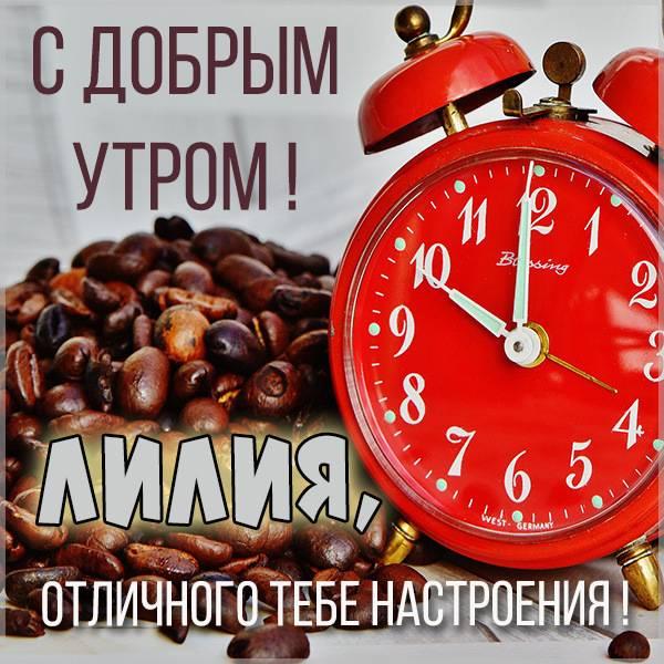 Открытка для Лилии с добрым утром - скачать бесплатно на otkrytkivsem.ru