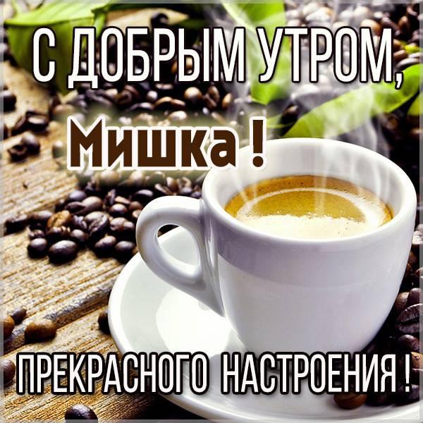 Открытка для Мишки с добрым утром - скачать бесплатно на otkrytkivsem.ru