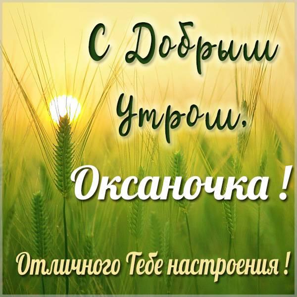 Открытка для Оксаночки с добрым утром - скачать бесплатно на otkrytkivsem.ru