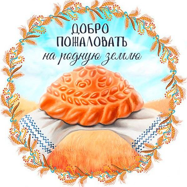 Открытка добро пожаловать на родную землю - скачать бесплатно на otkrytkivsem.ru
