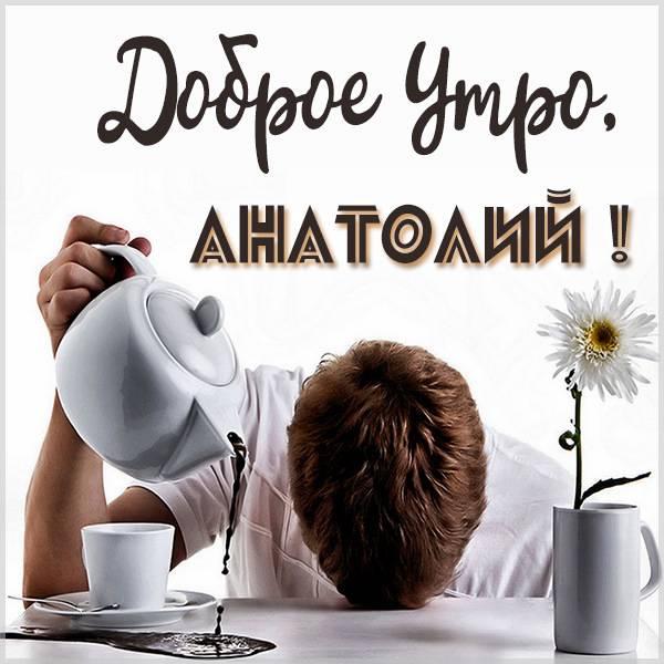 Открытка доброе утро Анатолий - скачать бесплатно на otkrytkivsem.ru