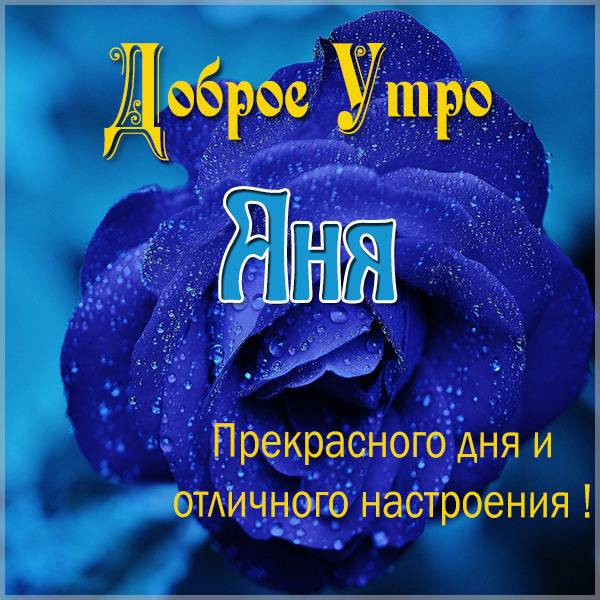 Открытка доброе утро Аня - скачать бесплатно на otkrytkivsem.ru
