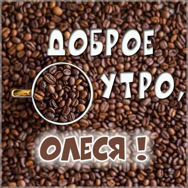Открытка доброе утро Олеся - скачать бесплатно на otkrytkivsem.ru