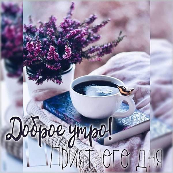 Открытка доброе утро приятного дня - скачать бесплатно на otkrytkivsem.ru