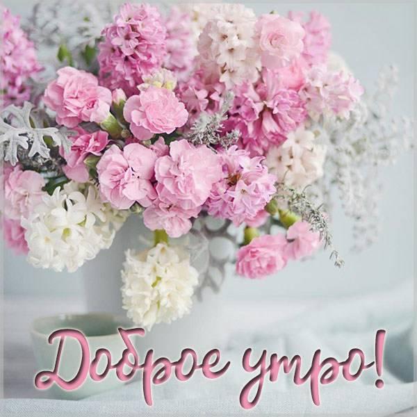 Открытка доброе утро цветы без повода - скачать бесплатно на otkrytkivsem.ru