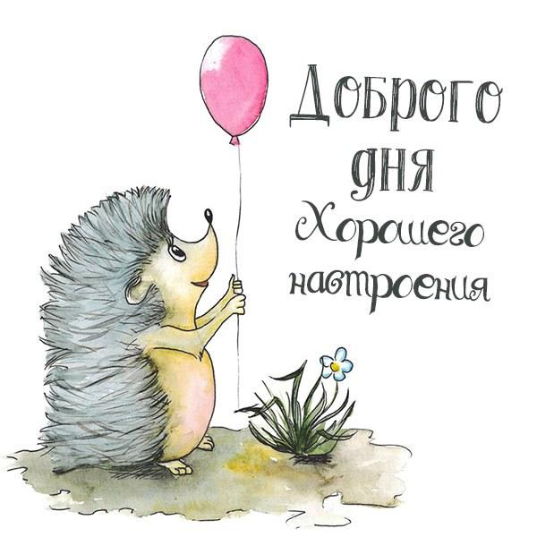 Открытка доброго дня и хорошего настроения - скачать бесплатно на otkrytkivsem.ru