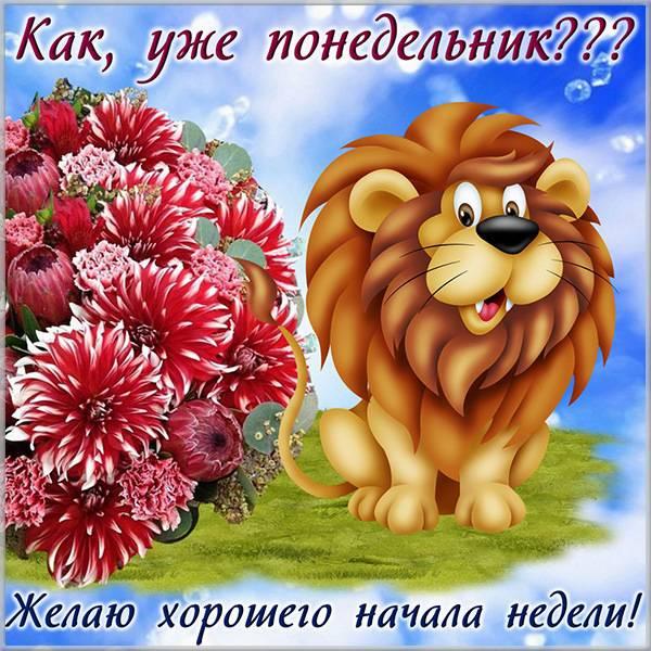 Открытка доброго понедельника и хорошей недели - скачать бесплатно на otkrytkivsem.ru