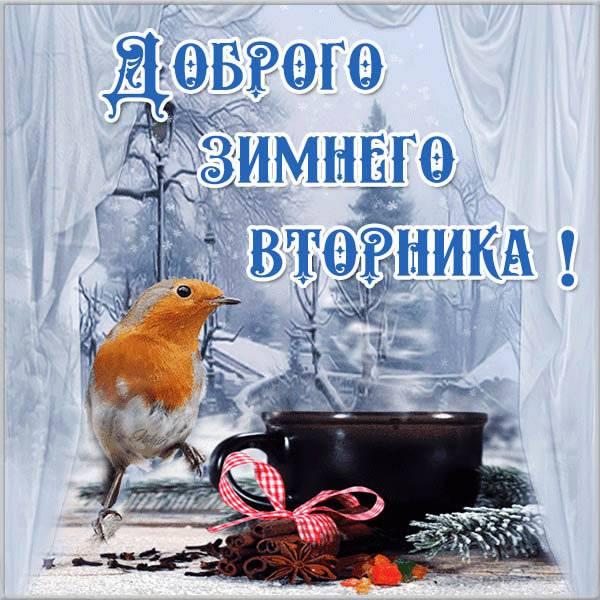 Открытка доброго зимнего вторника - скачать бесплатно на otkrytkivsem.ru