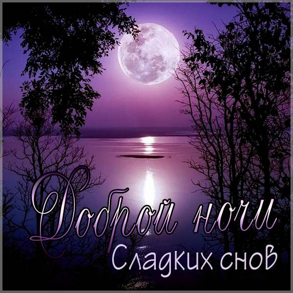 Открытка доброй ночи сладких снов женщине - скачать бесплатно на otkrytkivsem.ru