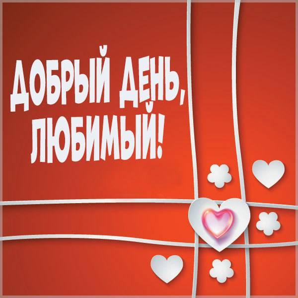 Открытка добрый день мужчине любимому - скачать бесплатно на otkrytkivsem.ru