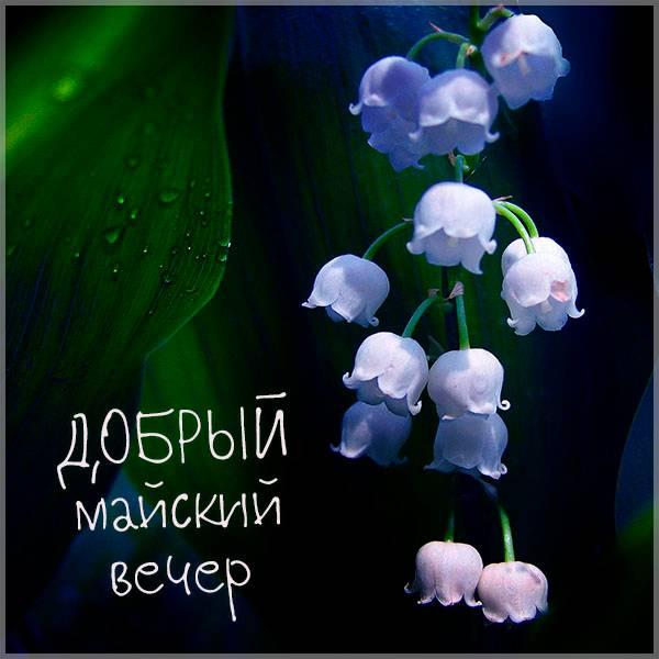 Открытка добрый майский вечер - скачать бесплатно на otkrytkivsem.ru