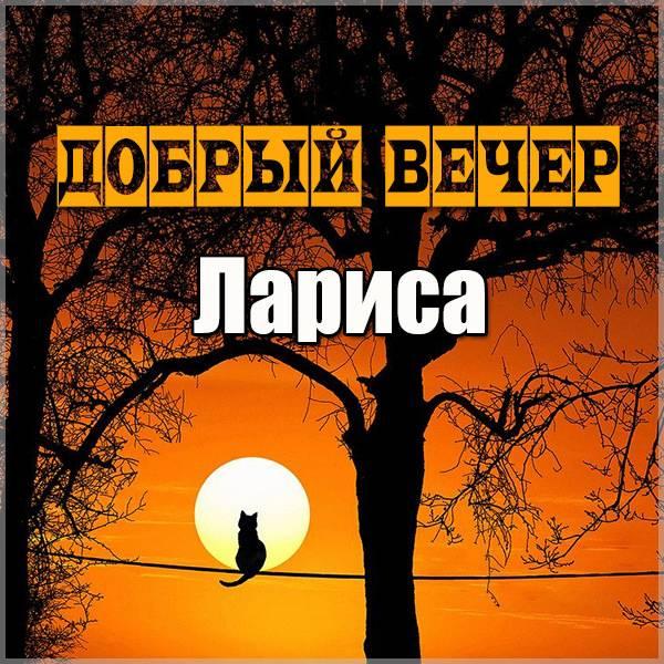 Открытка добрый вечер Лариса - скачать бесплатно на otkrytkivsem.ru