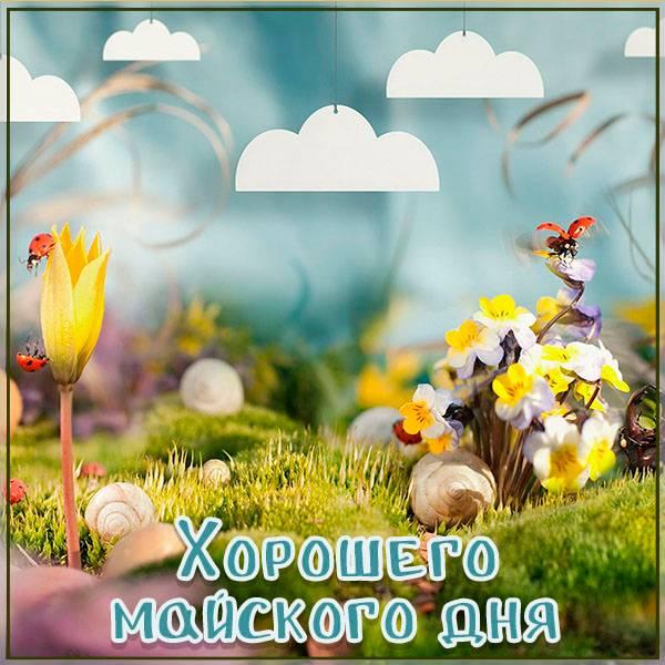 Открытка хорошего майского дня - скачать бесплатно на otkrytkivsem.ru