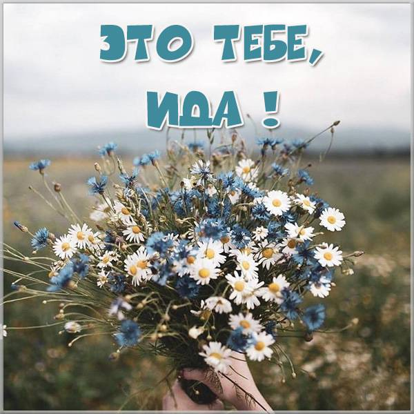 Открытка Ида это тебе - скачать бесплатно на otkrytkivsem.ru