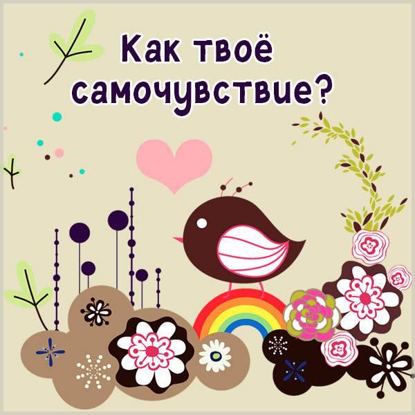 Открытка как твое самочувствие - скачать бесплатно на otkrytkivsem.ru