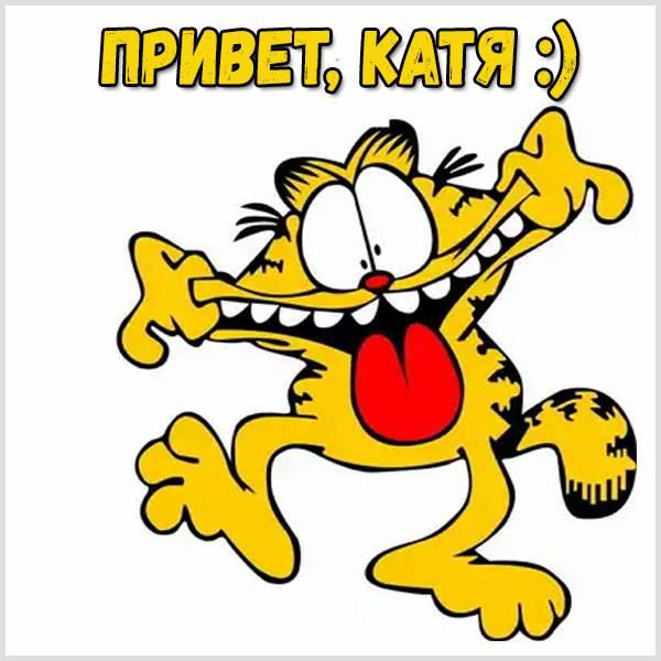 Открытка Катя привет - скачать бесплатно на otkrytkivsem.ru