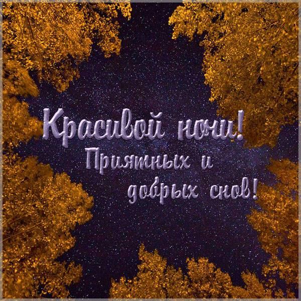 Открытка красивой ночи и приятных снов - скачать бесплатно на otkrytkivsem.ru