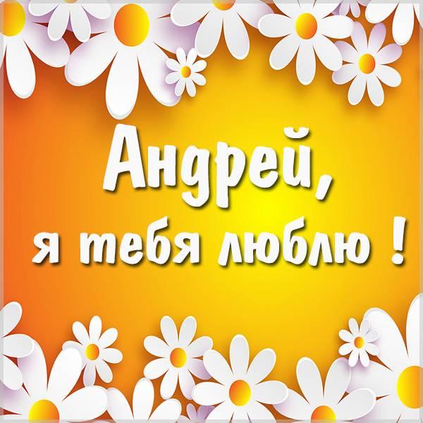 Открытка люблю тебя Андрей - скачать бесплатно на otkrytkivsem.ru