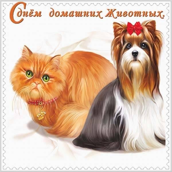 Открытка на день домашних животных - скачать бесплатно на otkrytkivsem.ru