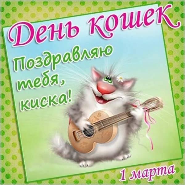 Открытка на день кошек - скачать бесплатно на otkrytkivsem.ru