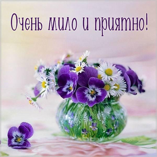 Открытка очень мило и приятно - скачать бесплатно на otkrytkivsem.ru