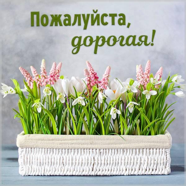 Открытка пожалуйста дорогая - скачать бесплатно на otkrytkivsem.ru