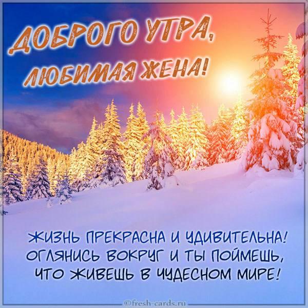 Открытка пожелание доброго утра любимой жене - скачать бесплатно на otkrytkivsem.ru