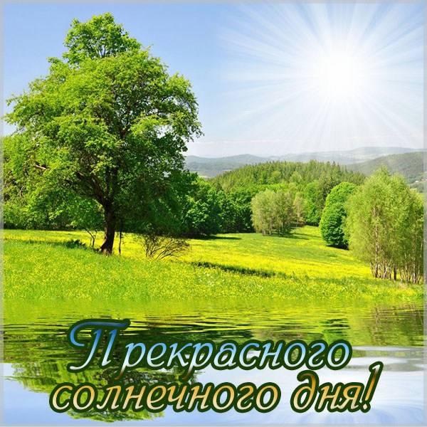 Открытка прекрасного солнечного дня - скачать бесплатно на otkrytkivsem.ru