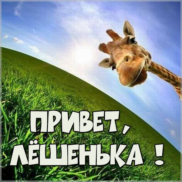 Открытка привет Алексей - скачать бесплатно на otkrytkivsem.ru