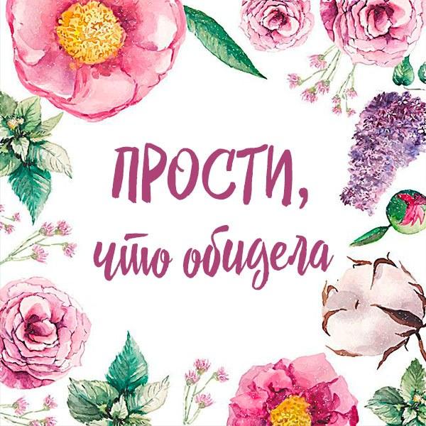 Открытка прости что обидела - скачать бесплатно на otkrytkivsem.ru