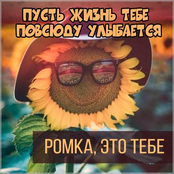 Открытка Ромка это тебе - скачать бесплатно на otkrytkivsem.ru