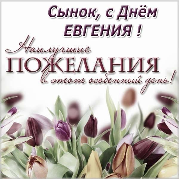 Открытка с днем Евгения сыну - скачать бесплатно на otkrytkivsem.ru