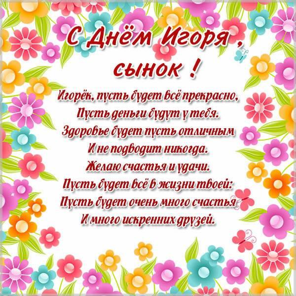 Открытка с днем Игоря сыну - скачать бесплатно на otkrytkivsem.ru