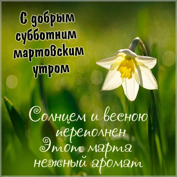 Открытка с добрым субботним мартовским утром - скачать бесплатно на otkrytkivsem.ru