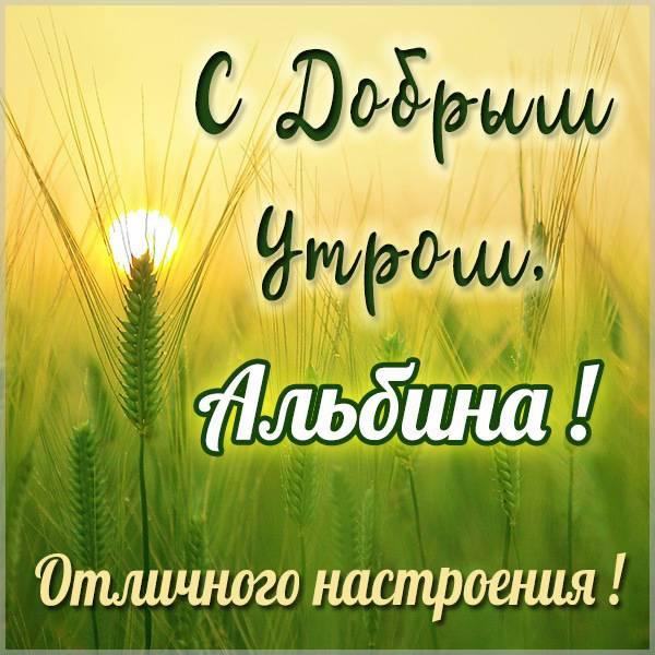 Открытка с добрым утром Альбина - скачать бесплатно на otkrytkivsem.ru