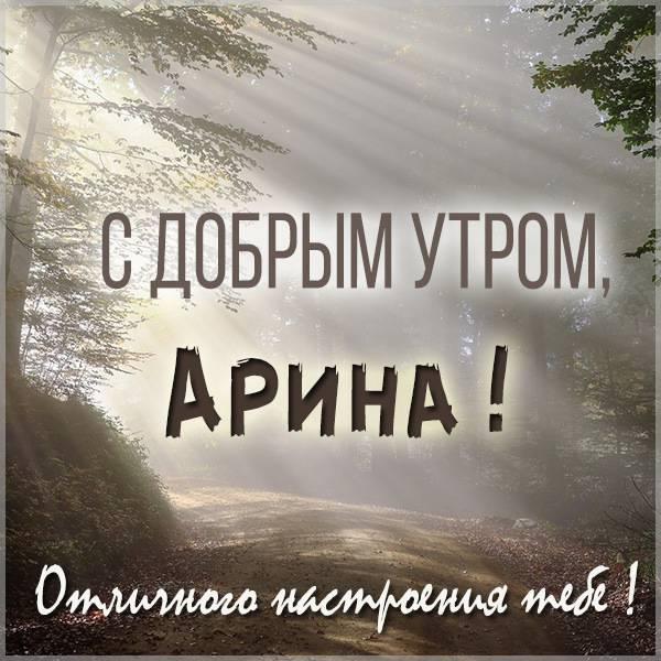 Открытка с добрым утром Арина - скачать бесплатно на otkrytkivsem.ru