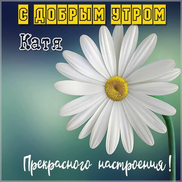 Открытка с добрым утром Катя - скачать бесплатно на otkrytkivsem.ru