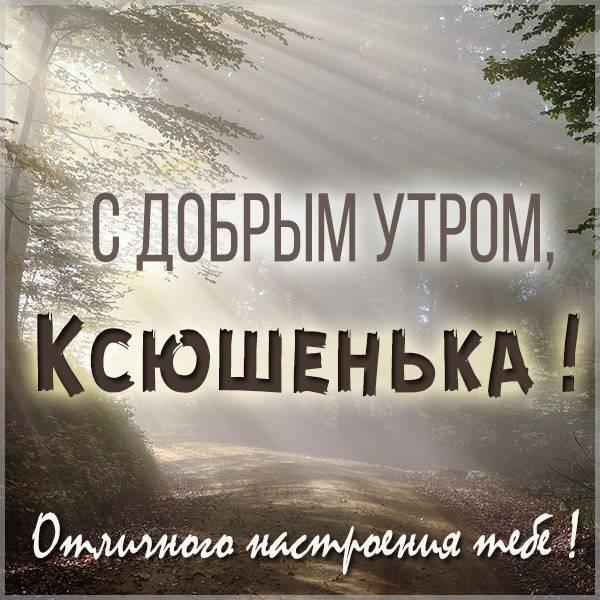 Открытка с добрым утром Ксюшенька - скачать бесплатно на otkrytkivsem.ru