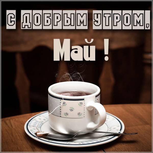Открытка с добрым утром Май - скачать бесплатно на otkrytkivsem.ru