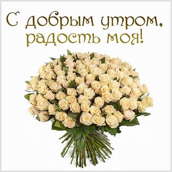 Открытка с добрым утром радость моя - скачать бесплатно на otkrytkivsem.ru
