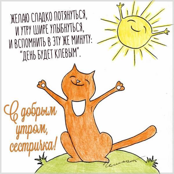 Открытка с добрым утром сестричка - скачать бесплатно на otkrytkivsem.ru