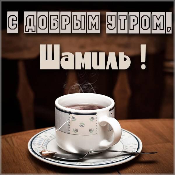 Открытка с добрым утром Шамиль - скачать бесплатно на otkrytkivsem.ru