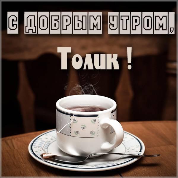 Открытка с добрым утром Толик - скачать бесплатно на otkrytkivsem.ru