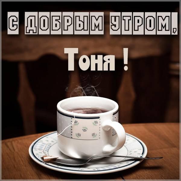 Открытка с добрым утром Тоня - скачать бесплатно на otkrytkivsem.ru