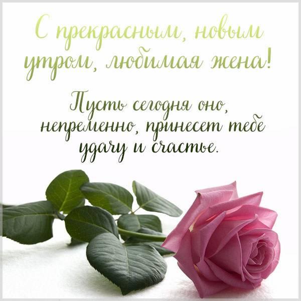 Открытка с добрым утром жене любимой красивая - скачать бесплатно на otkrytkivsem.ru