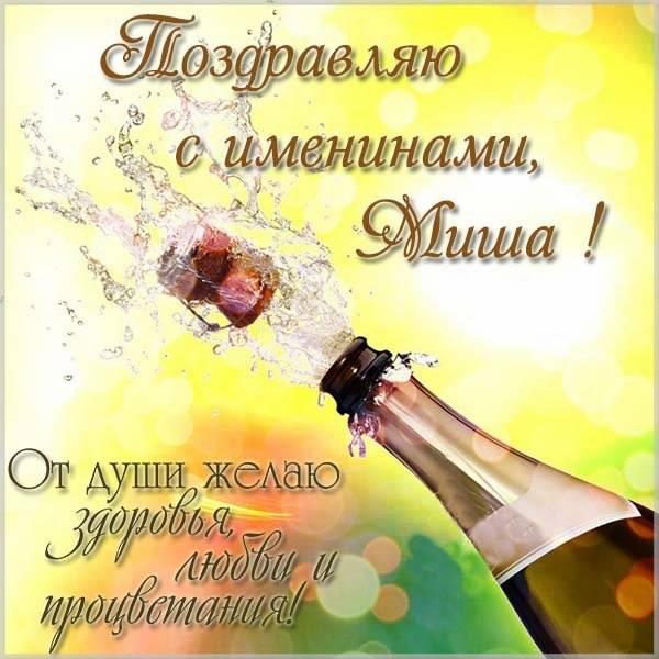 Открытка с хорошим поздравлением с днем Миши - скачать бесплатно на otkrytkivsem.ru