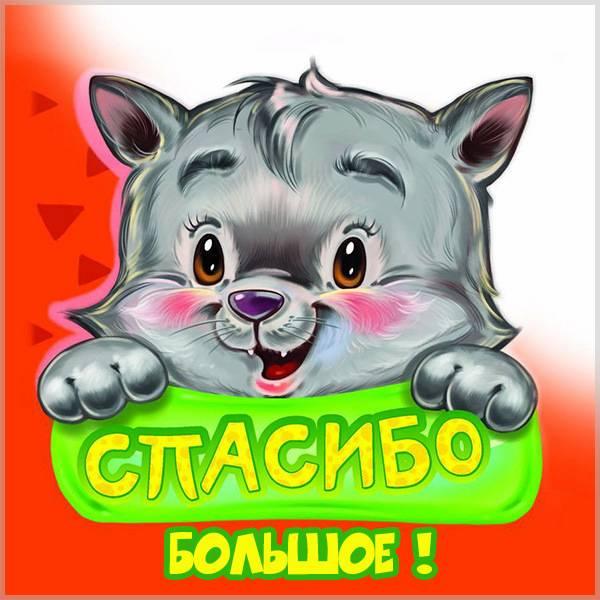 Открытка с надписью большое спасибо - скачать бесплатно на otkrytkivsem.ru