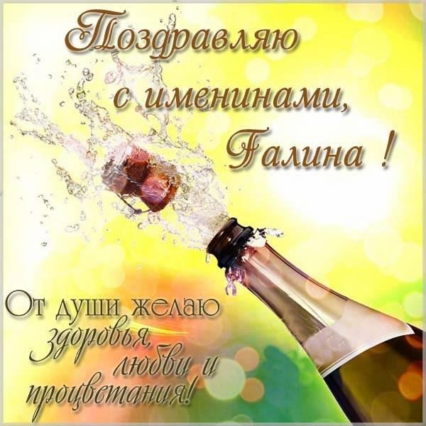 Открытка с поздравлением для Галины с именинами - скачать бесплатно на otkrytkivsem.ru