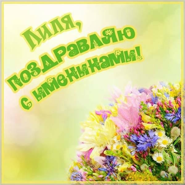 Открытка с поздравлением с днем Лили - скачать бесплатно на otkrytkivsem.ru