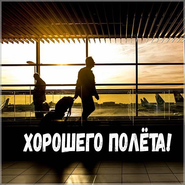 Открытка с пожеланием хорошего полета - скачать бесплатно на otkrytkivsem.ru